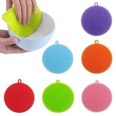 Silicone Sponge Kitchen Cleaning For Dish Washing Scrubber antibacterial Tool RB
