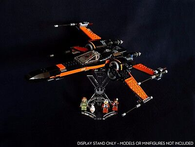 Star Wars Lego 75102 Poe's X-Wing Fighter - display stand angled + slots