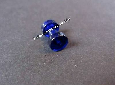 3mm BLUE TUNNEL with Screw FIT Back - Tunnels & Plugs
