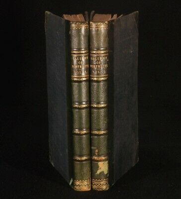 1833  2vol THE GALLERY OF PORTRAITS WITH MEMOIRS