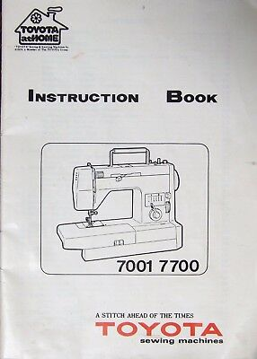 Toyota Model 7001 7700 Sewing Machine CD Instruction Manual.