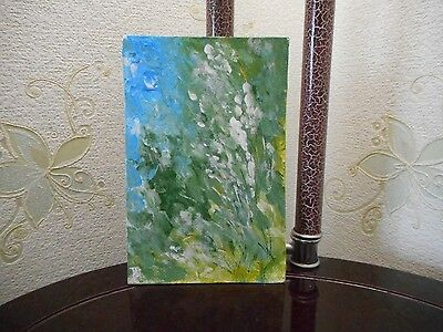 """morning"" Painting oil wall Abstract no frame signed MDmi original Impressionism"