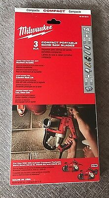 Milwaukee Compact Portable Band Saw Blades Pack Of 3 14TPI