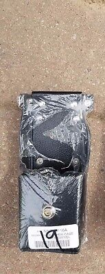 Motorola Leather Two-Way Radio Holster - New In Shrink Wrap