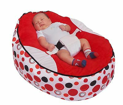 Red Circle Baby Bean Bag with Filling-UK Seller