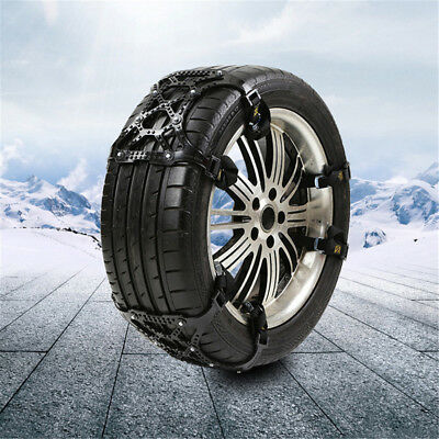 3pcs/set Car Truck Van Snow Tire Antiskid Chains Tendon Wheel Antiskid TPU Black