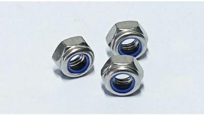 DIN 985 M5 x 0.8 Stainless Steel Nylon Insert Hex Lock Nut
