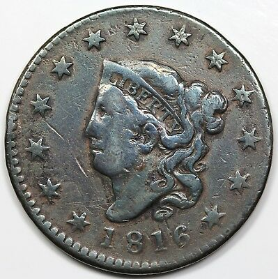 1816 Coronet Head Large Cent, VF detail
