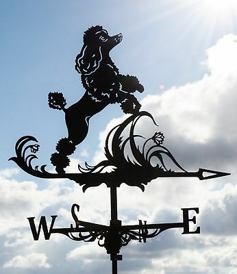 Shaggy Dog Metal Weathervane Canapé à toit Caniche Wind Decor Weather Vane