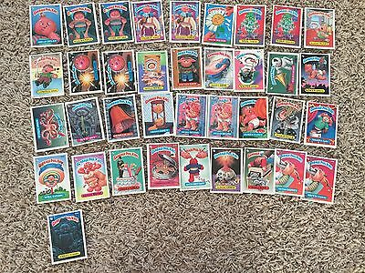 Lot of 84 Topps Garbage Pail Kids Cards Stickers series 8,9 and 12