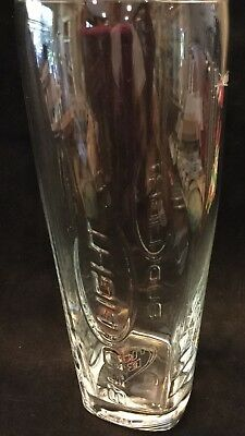 Bud Light - Budweiser- Clear Etched Out Raised Lettering Pilsner Tall Beer Glass