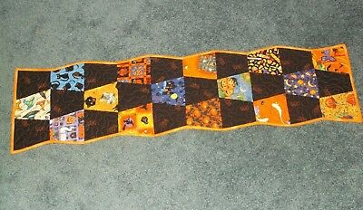 Quilted Handmade Halloween Table Runner