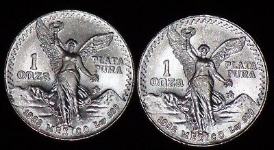 *TWO COIN LOT* 1988 LIBERTAD 1 Oz  Coin Type 1 and 2