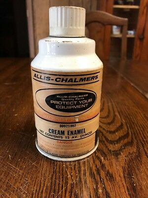 Vintage Allis-Chalmers Cream Machinery Enamel Spray Paint Can 00921097