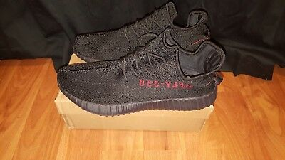 Yeezy 350 V2 Core Black Red Bred Boost Low SPLY CP9652
