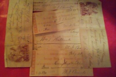 Savings Bank of Somerset Maryland Cancelled Checks 6 Lot