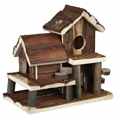 TRIXIE Mouse Hamster Gerbil House Birte Wood Play House Bed 61779