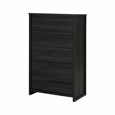 South Shore Furniture Tao 5-Drawer Chest, Gray Oak