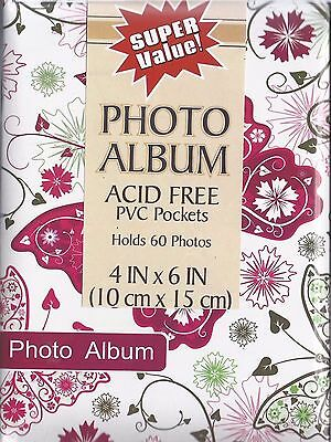 1-Premium~Photo Album~Holds-60-Photos~Slip In 4x6-Size~Hard Back~Great Price~WOW
