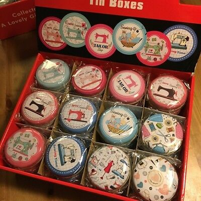 Collectable Sewing, Knitting Design Mini Tin Storage - Crafts, Sewing, Knitting