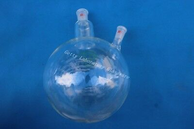 5L 5000ml 2-neck (two-neck) round bottom boiling flask, heavy wall, 24/40 join