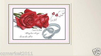 Flowers Decoration Length48CM * Width28CM Cross-Stitch Love Plus Red Roses !)