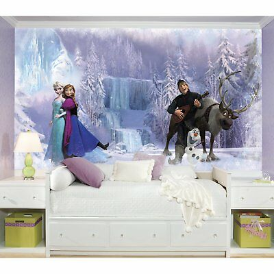 RoomMates Disney Frozen Chair Rail Prepasted Mural 6' x 10.5' - Ultra-strippable