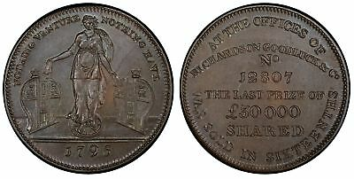 GREAT BRITAIN Middlesex 1795 CU Halfpenny Token PCGS MS64BN Fortune DH 468.