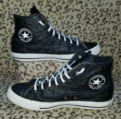 Converse Chuck Taylor All Star High Shoes Mens Size 7 Womens 9 Black Leather