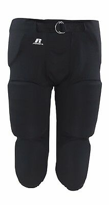 Russell Adult Integrated 7 Piece Pad Football Pants, NEW Medium