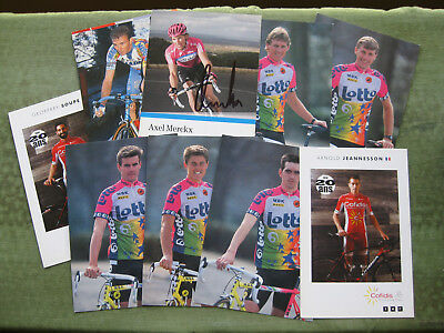 LOT 9 CP WIELRENNERS / CYCLISTES ( 9 scans )