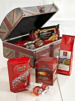 UNION JACK Small Hamper Chest with Food (552)