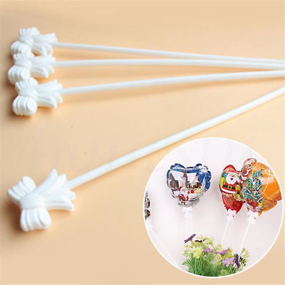10~100pcs White Balloon Holder Stick And Cup No Helium Party Wedding Supply