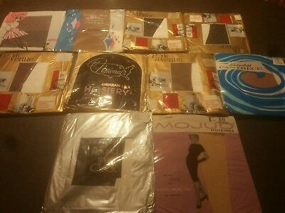 vintage stockings lot nos 10 pair seamless size 10-11 lot #4