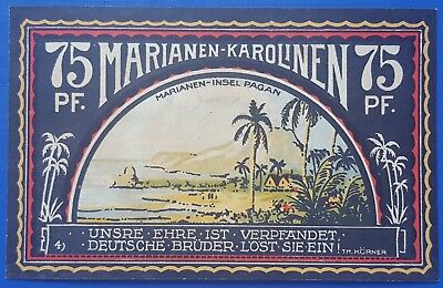 Notgeld German Colonies-South Pacific-Mariana&caroline-75 Pfennig-1922- Lot 25 .