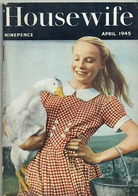 Vintage Housewife mag Apri 1945 WW2 - fiction, beauty etc + knitting - see pics