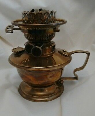 Good Quality Victorian Messengers hand held Oil Lamp with rise and fall burner