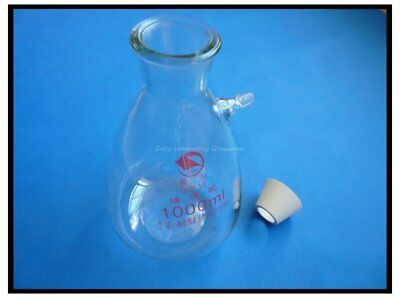 1000ml 1L Buchner Filter Filting Flask, Heavy Wall, With matching rubber adapter
