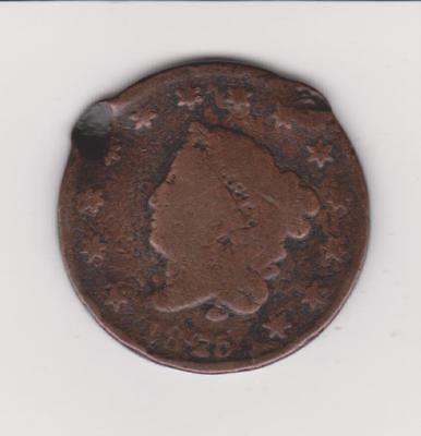 Scarce Early Date 1825 Large Penny-- Free Shipping