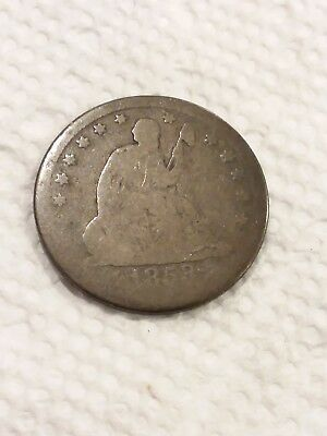 1853-O Seated Liberty Quarter Dollar Good