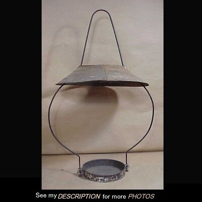 Scarce 1880-90s Junior size Country Store Kerosene Hanging Lamp Wire Frame