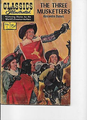 Classics Illustrated  #1  The Three Musketeers  hrn 149