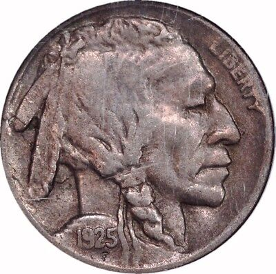 HJB- 1925 D Buffalo Nickel NGC EF40