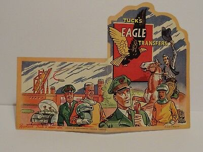 Rare Vintage Raphael Tuck Eagle Comic Dan Dare & Jeff Arnold Transfers (Nr Mint)