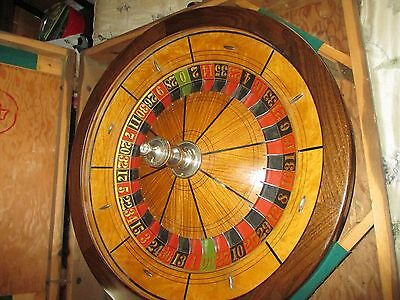 1920's Casino Roulette Wheel Grote & Co. With Table With Travel Case