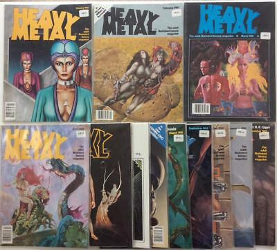 Heavy Metal #46 to #57 complete year 1981. The adult fantasy magazine