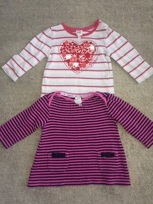 Baby Baker And Junior J 6-9 Months Girls Long Sleeved Top Bundle