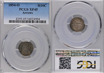 1854-O Pcgs Xf45 Seated Arrows Half Dime !!! Incredible Coin !!!