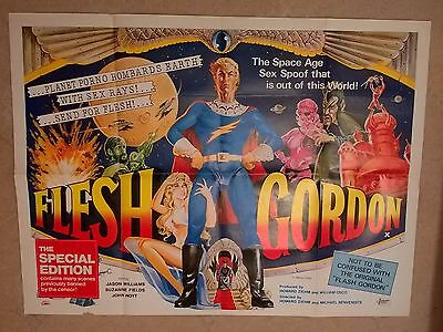 Flesh Gordon-1974   -   Original Uk Quad Poster .