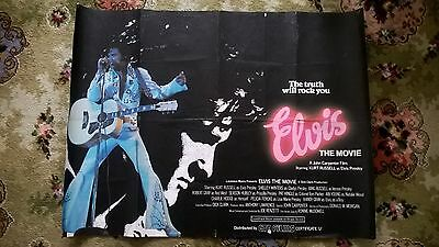 Elvis  The Movie - 1979- Uk Quad Poster Original .